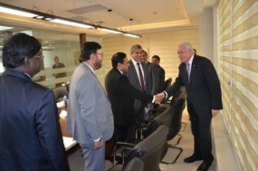 Sri Lankan Parliamentary delegation meets Palestine Foreign Affairs Minister