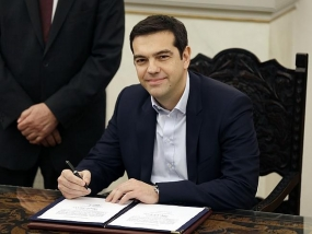 Syriza Party Leader Sworn in as Greek Prime Minister