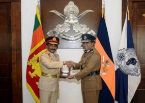 IGP Jayasundara pays first visit to the Army Headquarters