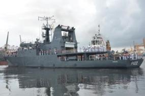 """SLNS Sagara leaves for """"DOSTI - XIII"""" in Maldives"""
