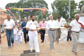 Chief of Naval Staff of the Indian Navy pays homage to Jaya Sri Maha Bodhi