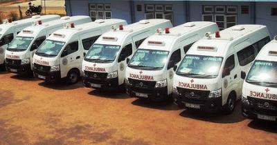 India gifts 88 ambulances to operate a free ambulance service