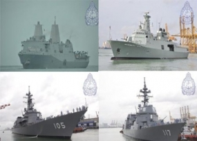 Four naval Ships arrived at Colombo Fort