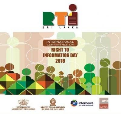 Sri Lanka celebrated International Right to Information Day - 2016