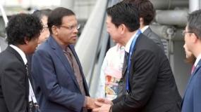 President arrives in Nagoya to attend G 7