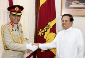 Former Army Chief pays a courtesy call on President Sirisena