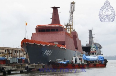 AOP Vessel built for Sri Lanka Navy launched in Goa