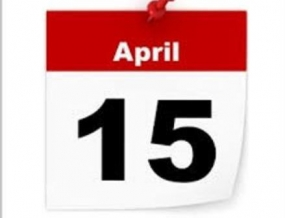 April 15 Friday a holiday