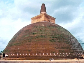 Abhayagiri Stupa to be unveiled for public veneration by end July