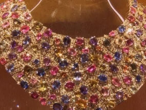 Sparkling jewellery from the famous jeweller on show to an elite few