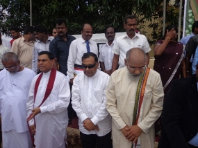 Foundation Stone laid for  Duraiappah Stadium project in Jaffna