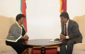 Sri Lankan Actg.Foreign  Minister meets his South African counterpart