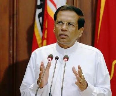 President Maithripala Sirisena addresses the New Cabinet