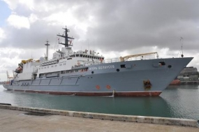 "Russian Vessel   ""Igor Belousov"" arrives at the Colombo Port"
