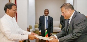 Mr. Arjuna Mahendran takes office as the Governor of the Central Bank of Sri Lanka