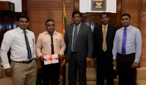 Finance Minister donates 1.2 million rupees for Matale Wilgamuwa Maraka Maha Vidyalaya