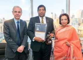 Finance Minister receives the 'Best Finance Minister of the Year 2017 - Asia Pacific Region' Award from the Banker Magazine