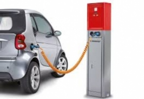 Fee levying system for re-charging electric cars