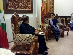 Speaker meets Myanmar leader