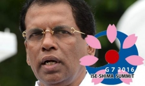 Lanka takes center stage at G7 in Japan
