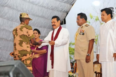President hands over Pension Letters to CDF Personnel