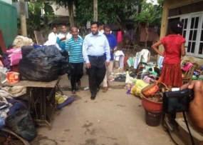 Minister Bathiudeen proposed cash grant for each flood affected family