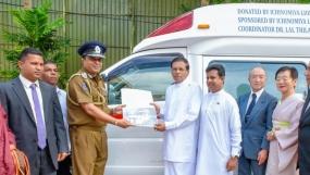 Japan- Sri Lanka Friendship Foundation donates an ambulance