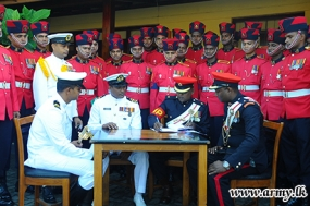Navy Troops Accept Ceremonial Guard from the Military Police