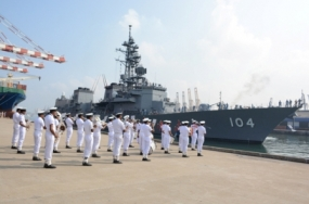 Japanese Naval Ship arrives at the Port of Colombo
