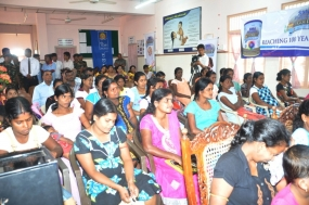 Nutrition Programme for Pregnant Mothers today in Jaffna