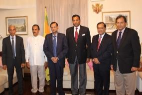 Prof. Peiris meets  SL Envoys to European countries