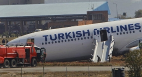 Turkish plane skids off runway, close shave for 238 people