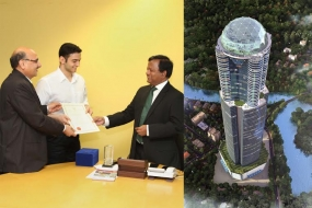 BOI signs an investment agreement to build tallest building in Sri Lanka