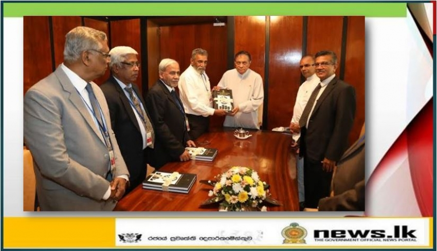 The Election Commission presents a book on 70 Years of Parliament Electoral History to the Speaker