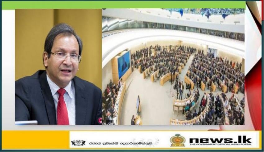 Foreign Secretary Aryasinha meets Human Rights Council President in Geneva