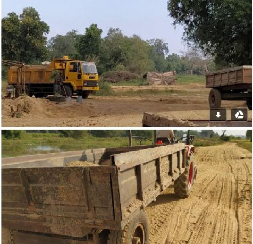 Navy apprehends two persons for loading sand without permit