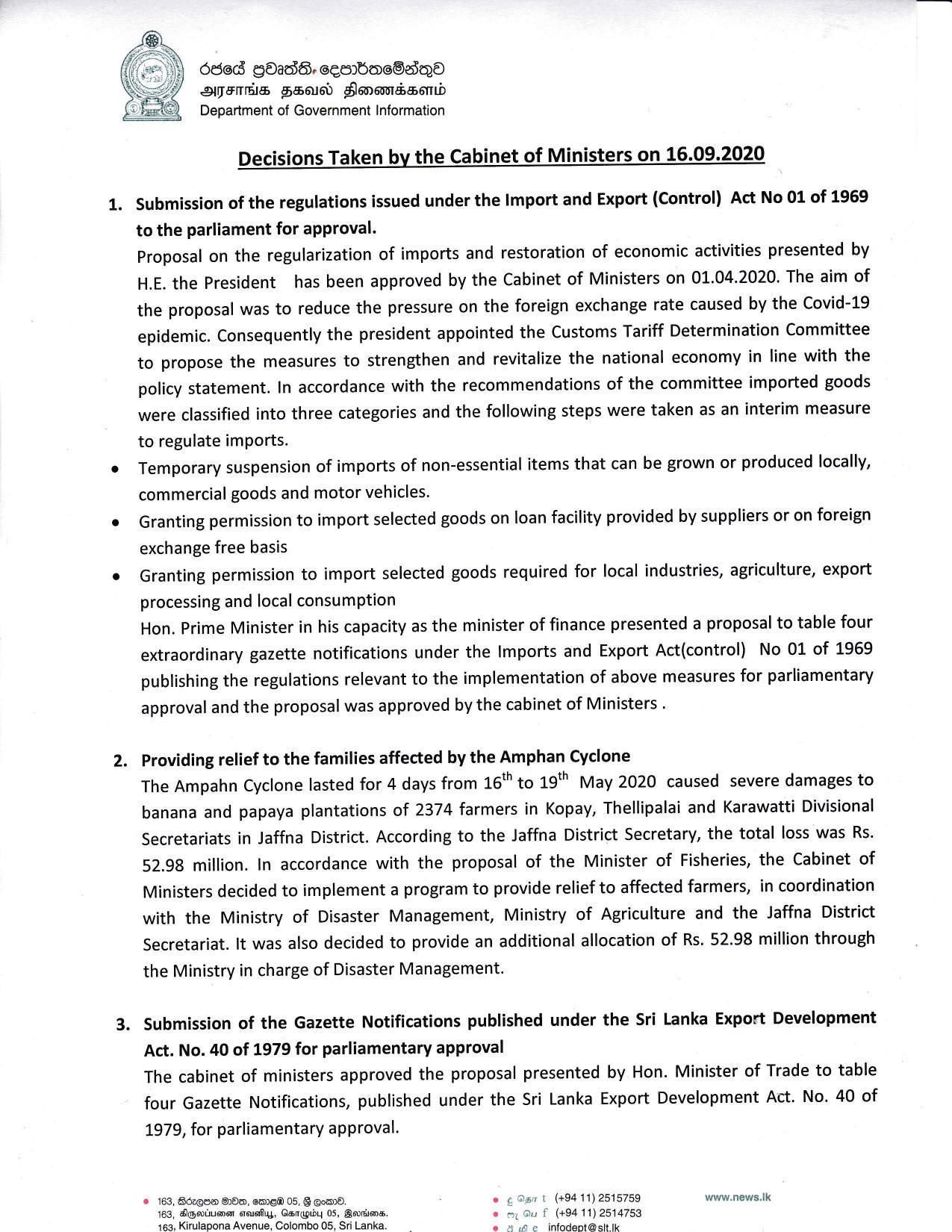 Cabinet Decision English on 16.09.2020 page 001