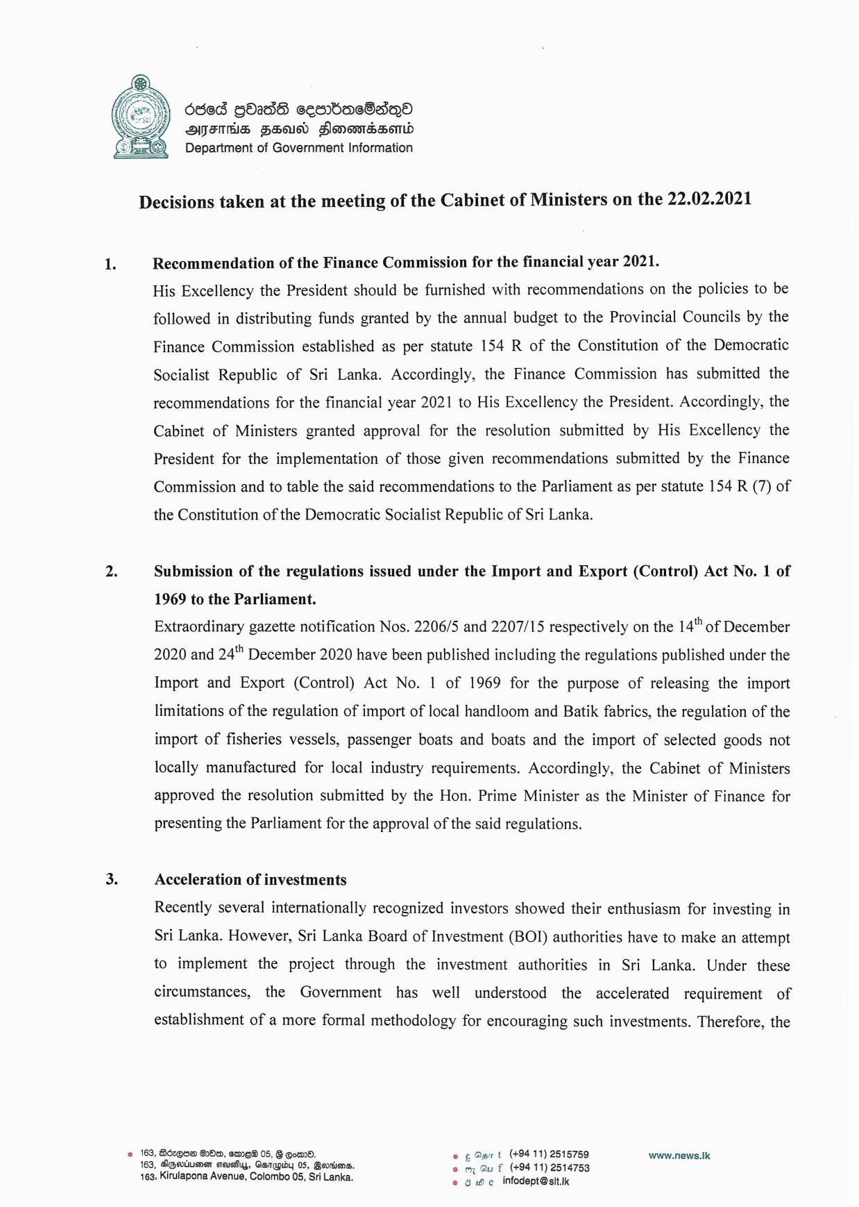 Cabinet Decision on 22.02.2021 Englihs page 001