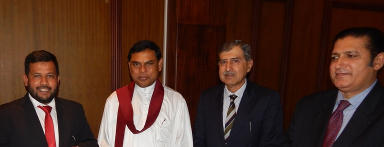 HE Qasim Qureshi with Minister Rajapaksha Minister Bathiudeen  Pakistans DHM