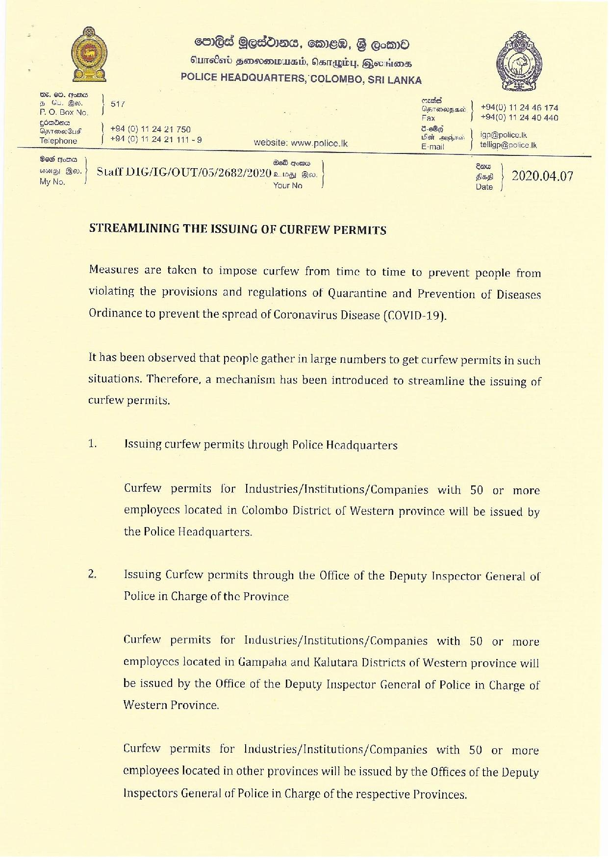 Streamlining The issuing of curfew permits English 1 page 001