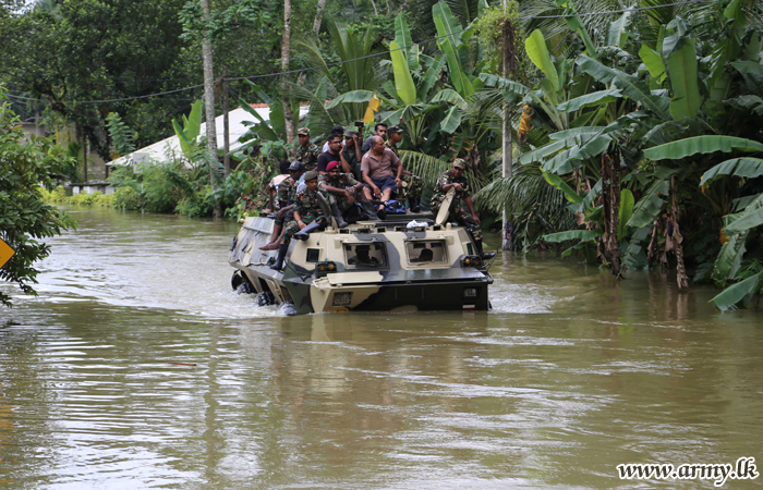 Army continues relief work