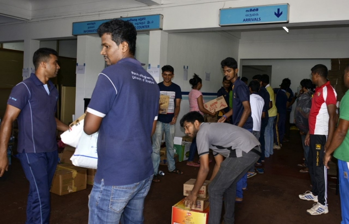 Relief Goods Being Collected and Ready for Dispatch, to Affected Areas @ Colombo AirPort (Ratmalana)