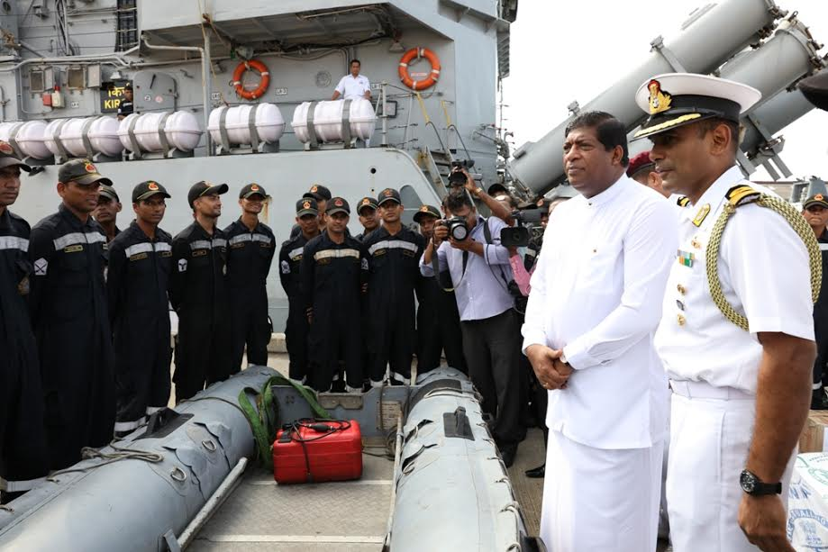 Indian Ship 'Kirch' arrives at the Colombo Port