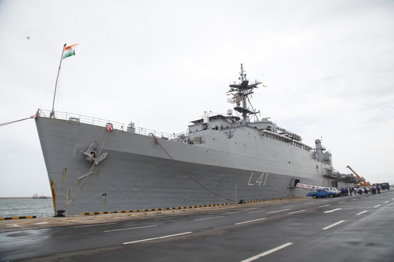 The Third Indian Naval Ship Carrying Relief Goods, Arrived @ the CMB Port Today (30th May)