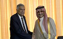 Arabic Royal Prince Al Saud Meet Prime Minister