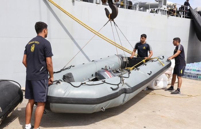 Second Indian ship with relief goods arrive_2