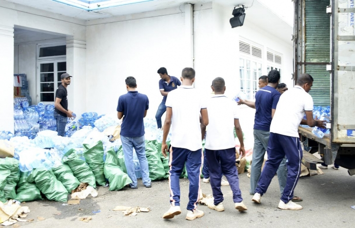 Pix Shows the Relief Goods Being Collected and Ready for Dispatch, to Affected Areas @ Colombo AirPort (Ratmalana)