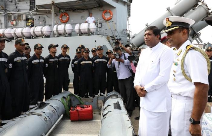 Indian Ship 'Kirch' arrives at the Colombo Port_4