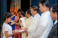 President's Speech - 10,000  scholarships to the students of Samurdhi Beneficiary families.