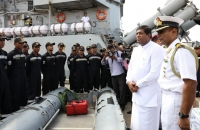Indian Ship 'Kirch' arrives at the Colombo Port_3